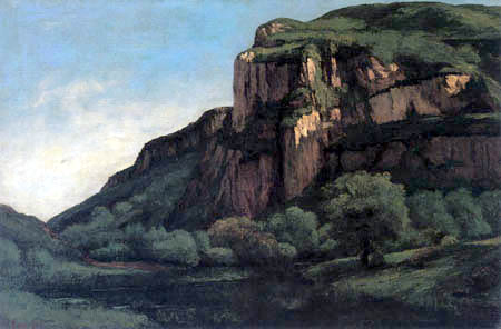 Gustave Courbet - Cliffs near Mouthier