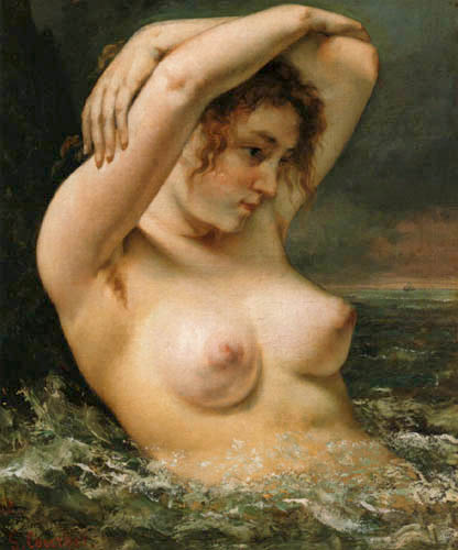 Gustave Courbet - Bathing girl
