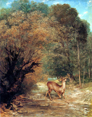 Gustave Courbet - A fallow deer sighted by the beaters