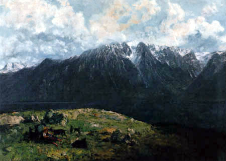 Gustave Courbet - Alpine landscape with Dents du Midi