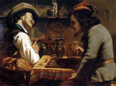 Gustave Courbet - Le jeu de dames