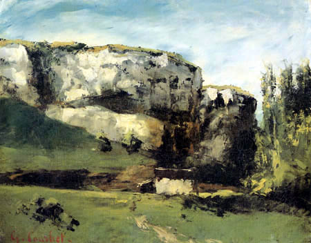 Gustave Courbet - Rocky Landscape