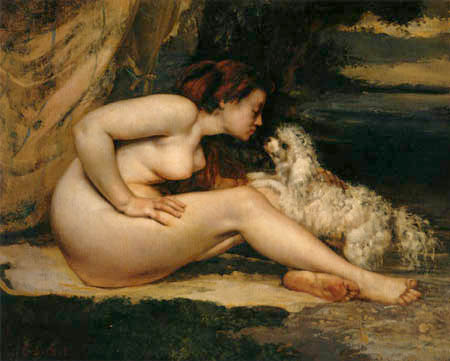 Gustave Courbet - Nude with dog