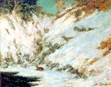 Gustave Courbet - Snowy landscape