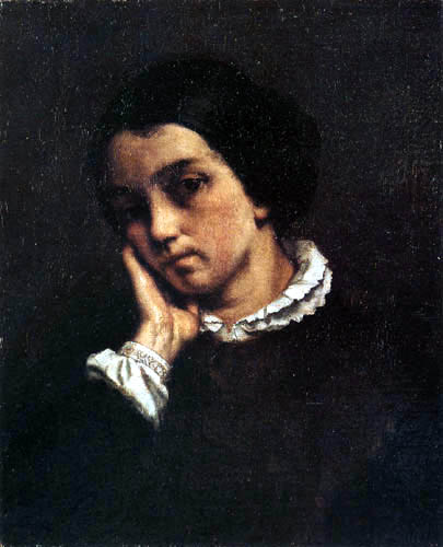 Gustave Courbet - Portait of Zélie Courbet