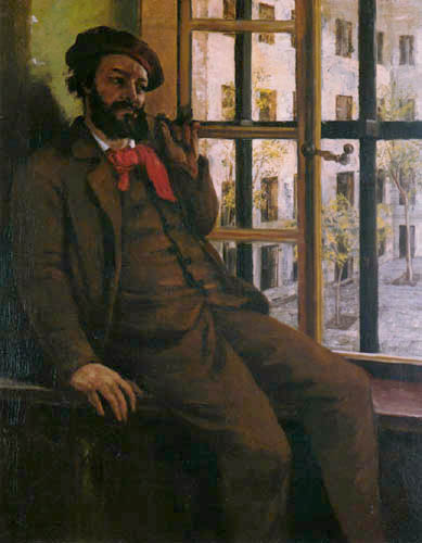 Gustave Courbet - Self portrait in the prison Sainte-Pélagie