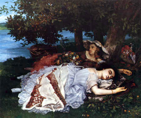Gustave Courbet - Ladies on the banks of the Seine