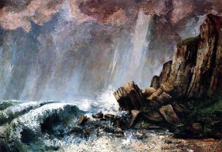Gustave Courbet - Storm in Étretat