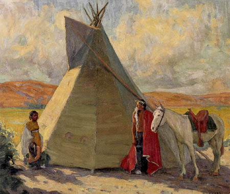 Eanger Irving Couse - Crow Tent