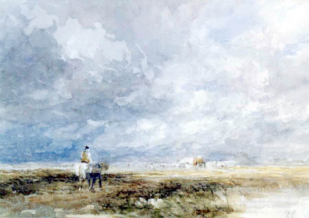 David Cox - The way to the hay field