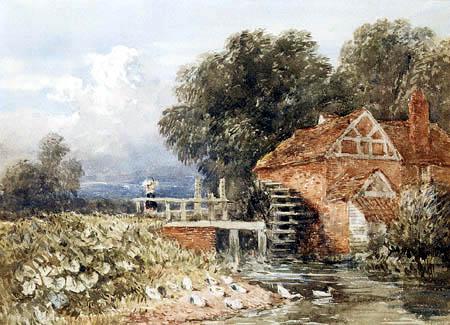 David Cox - Watermill in Staffordshire