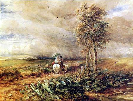 David Cox - Sun, wind and rain