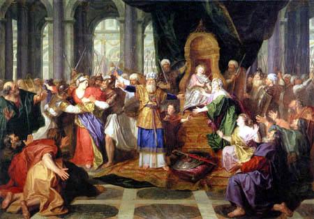 Antoine Coypel - Athalie est chassé du temple