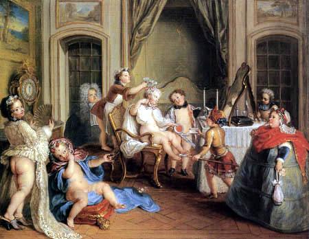 Charles-Antoine Coypel - Kinderspiel bei der Toilette