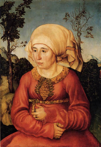 Lucas Cranach der Ältere - Die Frau eines Gelehrten