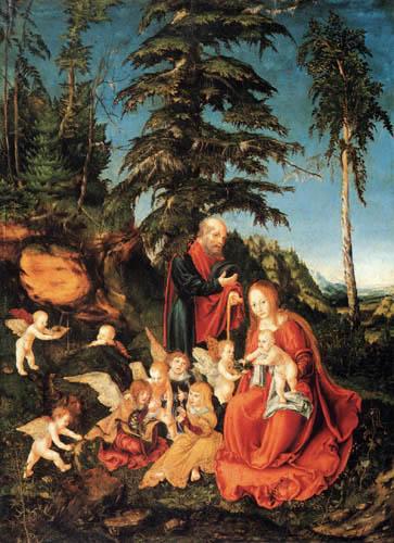 Lucas Cranach the Elder - Resting on the flight