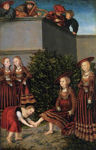 Lucas Cranach der Ältere - David und Bathseba
