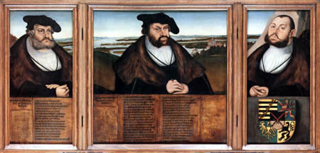Lucas Cranach der Ältere - Die drei Kurfürsten von Sachsen