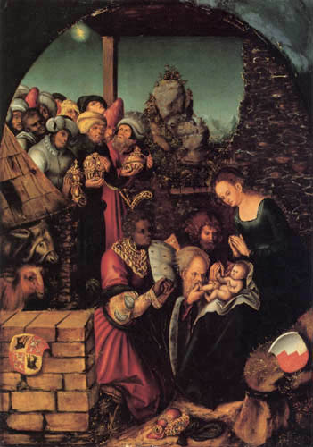 Lucas Cranach the Elder - The Adoration of the Magi