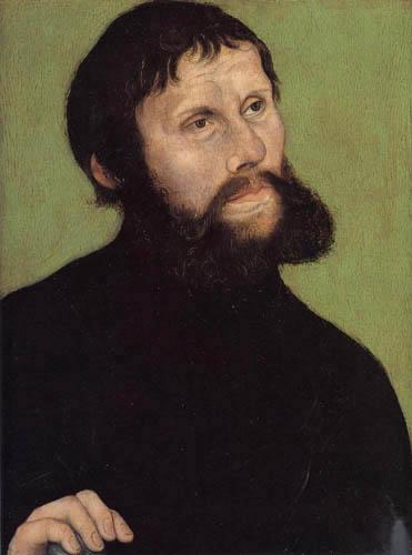 Lucas Cranach der Ältere - Bildnis Luthers als Junker Jörg