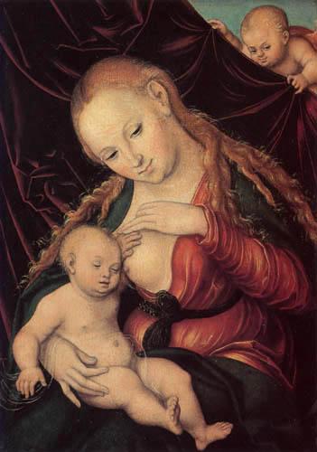 Lucas Cranach der Ältere - Madonna mit Kind
