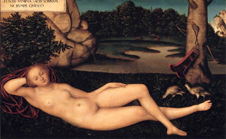 Lucas Cranach the Elder - A sleeping nymph
