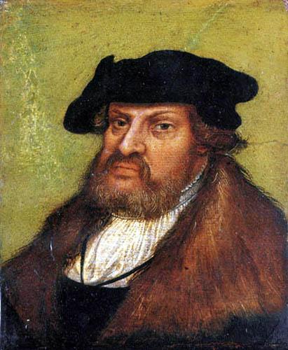 Lucas Cranach der Ältere - Porträt des Johann von Sachsen
