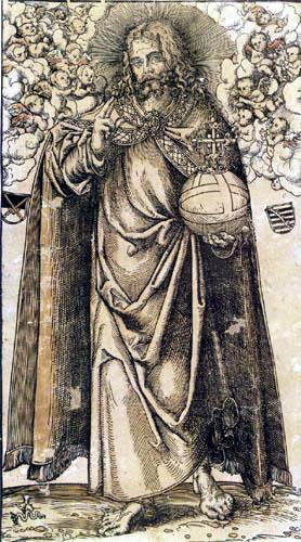 Lucas Cranach der Ältere - Christus als Salvator