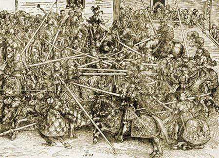 Lucas Cranach the Elder - The third tournament
