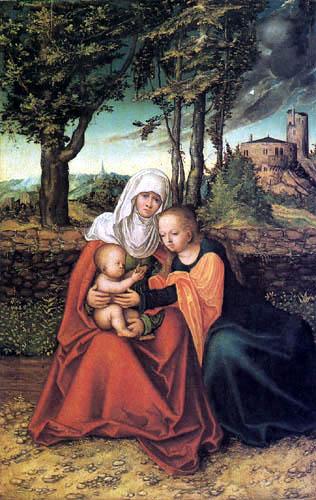 Lucas Cranach the Elder - St. Anna Selbdritt