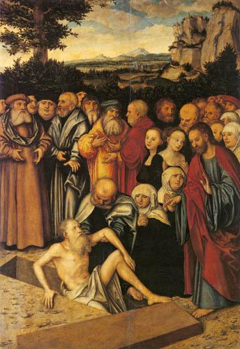 Lucas Cranach der Ältere - Die Auferweckung des Lazarus