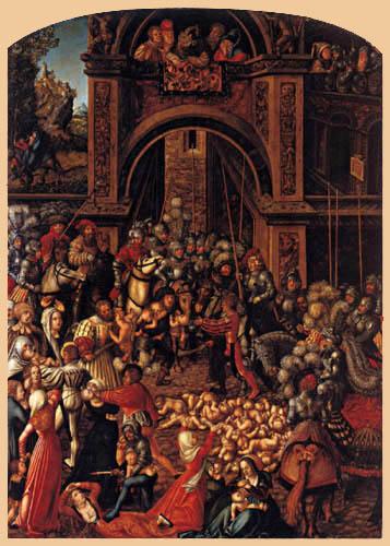 Lucas Cranach der Ältere - Der bethlehemitische Kindermord