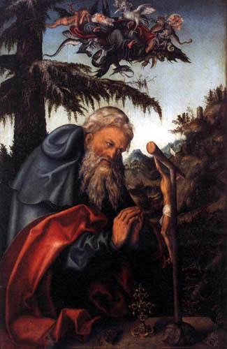 Lucas Cranach der Ältere - Der hl. Antonius als Eremit