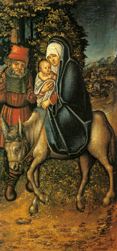 Lucas Cranach the Elder - The Flight into Egypt
