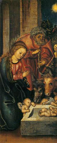 Lucas Cranach der Ältere - Die Geburt Christi