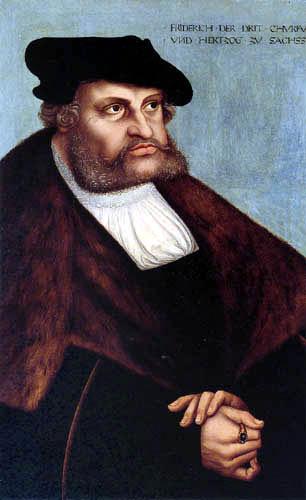 Lucas Cranach der Ältere - Kurfürst Friedrich der Weise
