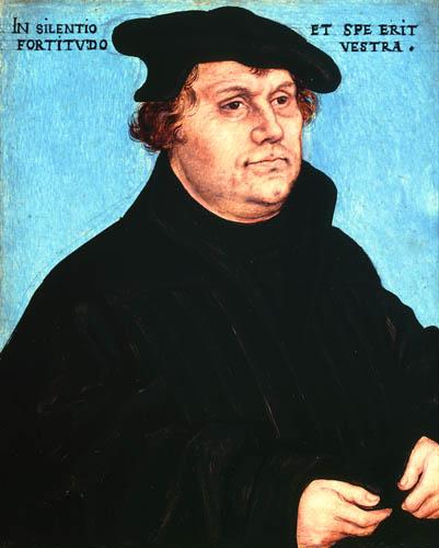 Lucas Cranach der Ältere - Bildnis Martin Luther