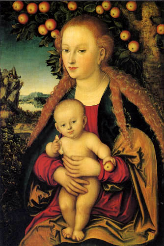 Lucas Cranach the Elder - The Virgin with the Child under an Apple Tree