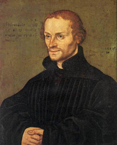 Lucas Cranach der Ältere - Porträt Philipp Melanchthon