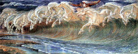 Walter Crane - The Horses of Neptun