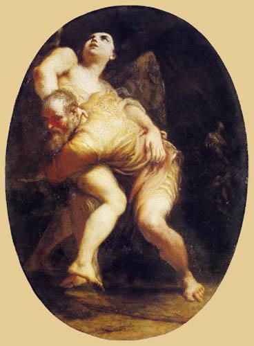 Giuseppe Maria Crespi - Giacobbe discute avec un ange