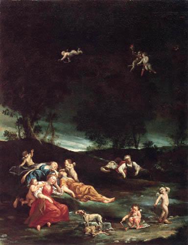 Giuseppe Maria Crespi - Nymphes endormie