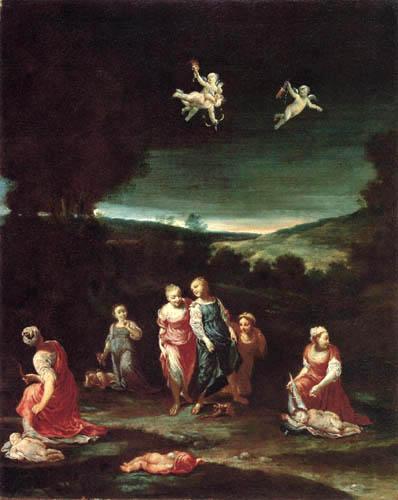 Giuseppe Maria Crespi - Nymphen mit Engeln