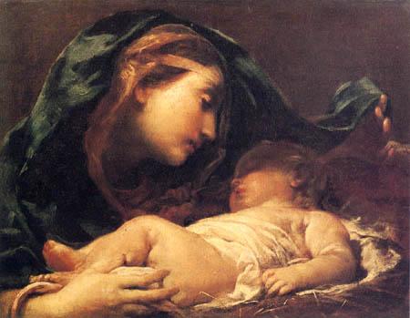 Giuseppe Maria Crespi - Madona con Niño Jesús durmiente