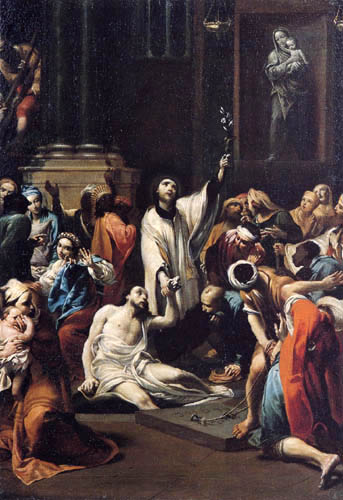 Giuseppe Maria Crespi - Le Miracle de Saint François d'Assise