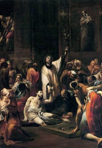 Giuseppe Maria Crespi - The Miracle of St. Francis of Assisi