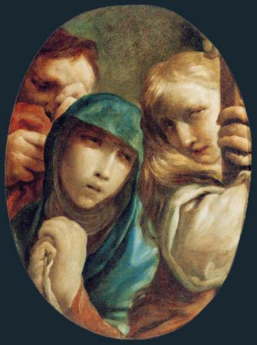 Giuseppe Maria Crespi - Trauer unter dem Kreuz