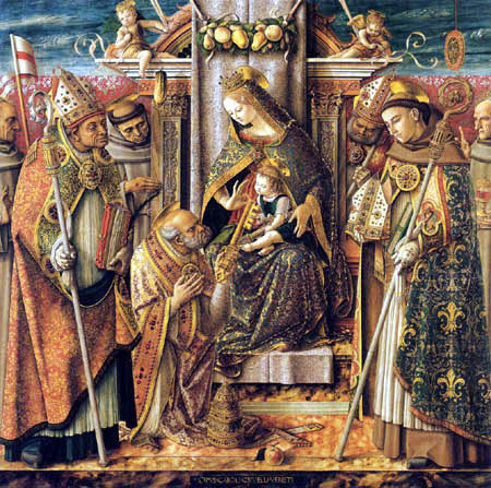 Carlo Crivelli - Enthroned Madonna with Child