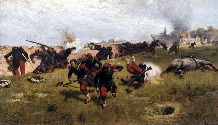 Ernest Crofts - War Scene
