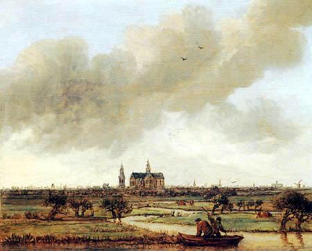Anthonie Jansz. van der Croos - A view of Haarlem seen from the Polders